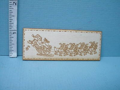 Miniature Store Sign -Santa Sleigh & Reindeer Sign SP138- Dragonfly Int'l 1/12th](Dragonfly Store)