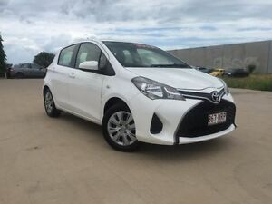 2014 Toyota Yaris NCP130R Ascent White 4 Speed Automatic Hatchback Garbutt Townsville City Preview