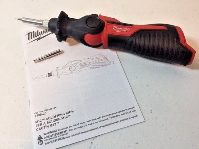 MILWAUKEE 2488-20 M12 Cordless Soldering Iron (Tool Only) NEW SEALED!