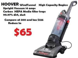 Hoover WindTunnel  High Capacity Bagless Upright Vacuum 14 amps Carbon  HEPA Media filter traps 99.97% dirt, dust