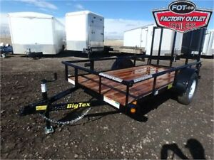 5 X 10 UTILITY TRAILER BY BIG TEX ! **4' RAMPGATE** TAX INCLUDED