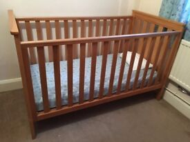 Mothercare COTBED in GOOD CONDITION - wooden with extra end. James collection