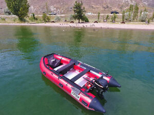 Stryker Inflatable 14 ft & 1984  25 Mercury Motor