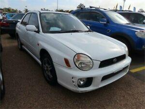 2002 Subaru Impreza S MY02 RS AWD White 4 Speed Automatic Sedan