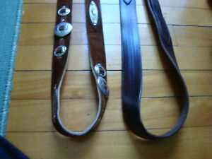 MEN'S WESTERN LEATHER BELTS BLACK&BROWN SIZE 36-38 West Island Greater Montréal image 9