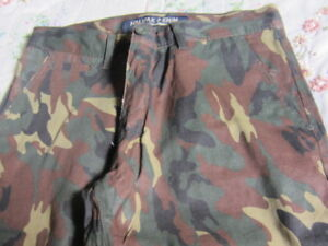 I have a new pair of army print pants.
