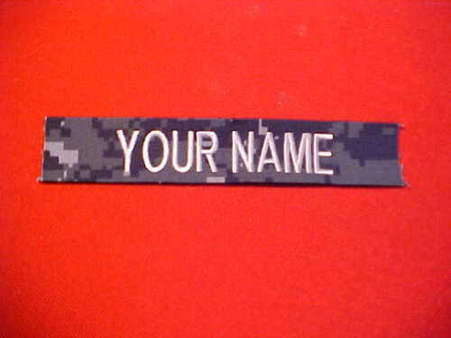 US Navy NWU Blue digi - New custom made Nametape