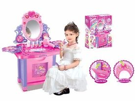 Childrens Dressing Table Set,with Lights, Music,and Working Hair dryer