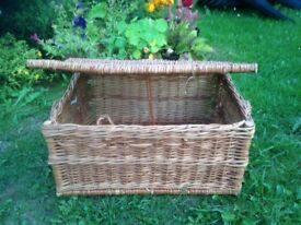 Wicker Basket 48 x 23 x 35 cms. Perfect condition, for picnic or storage, Has fastener.