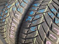 225/45/18 Dunlop SP WSport M3, M+S Winter, XL x2 A Pair, 6.4mm (456 Barking Rd, Plaistow, E13 8HJ)