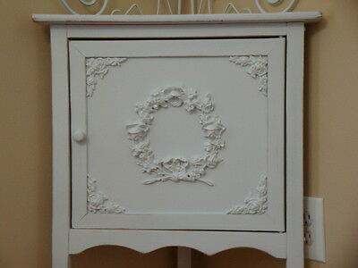 Shabby Chic Rose Floral Wreath Furniture Appliques Architectural Border Mount