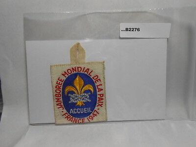 1947 1947 WORLD JAMBOREE  ACCUEIL   B2276