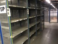 job lot 5 bays dexion impex industrial shelving 2.4m high ( storage , pallet racking )