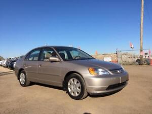 2002 Honda Civic LX -COMES W/WINTER TIRES + WARRANTY! LOW KMs!