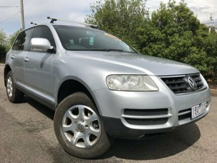 2003 Volkswagen Touareg 7L Luxury 4XMotion Silver 6 Speed Sports Automatic Wagon Hoppers Crossing Wyndham Area Preview