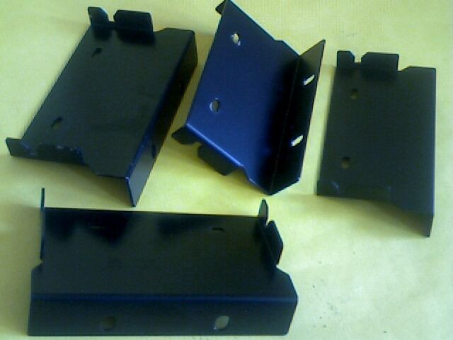 "19"" RACK CABINET SIDE-PANEL TYPE BRACKETS x2 PAIRS FOR UNIT CHASSIS MOUNTING many others available."