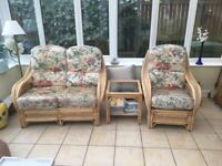 Conservatory Furniture set includes 2 seater, chair & table