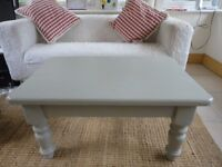 Grey Shabby Chic Solid Wood Painted Coffee Table