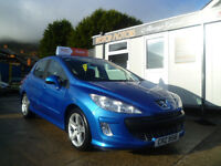 2008 PEUGEOT 308 1.6 HDI SPORT ,,, fully serviced ,,,, ALL CREDIT/ DEBIT CARDSA ACCEPTED
