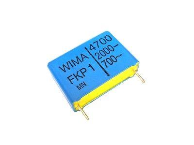 6 Pcs New Wima Fkp1 Film Capacitors 4700pf 4n7 4.7nf 0.0047uf 472 2kvdc 700vac