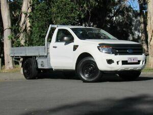 2011 Ford Ranger PX XL 4x2 Hi-Rider White 6 Speed Manual Cab Chassis Slacks Creek Logan Area Preview