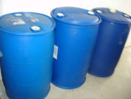 Plastic/poly drums 205 litres with bungs VGC Southport Gold Coast City Preview
