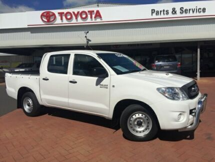 2010 Toyota Hilux KUN16R 09 Upgrade SR White 5 Speed Manual Dual Cab Pick-up Dubbo 2830 Dubbo Area Preview