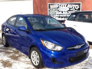 SOLD...2012 HYUNDAI ACCENT  95KMS $6995 MIDCITY