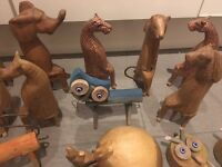 Handmade (hand carved) wooden animals