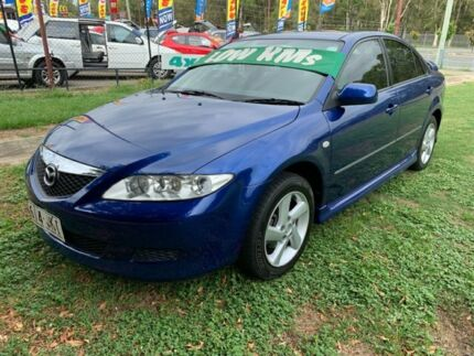 2004 Mazda 6 GG Classic Blue 5 Speed Manual Hatchback Clontarf Redcliffe Area Preview
