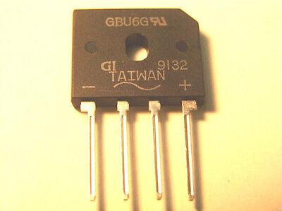 Gbu6g Single-phase Full-wave Bridge Rectifier 6 Amp 400volt