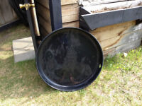 *NEW* never used hot water heater pan, black for $15