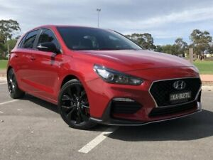 2018 Hyundai i30 PD.3 MY19 N Line D-CT Red 7 Speed Sports Automatic Dual Clutch Hatchback Nailsworth Prospect Area Preview