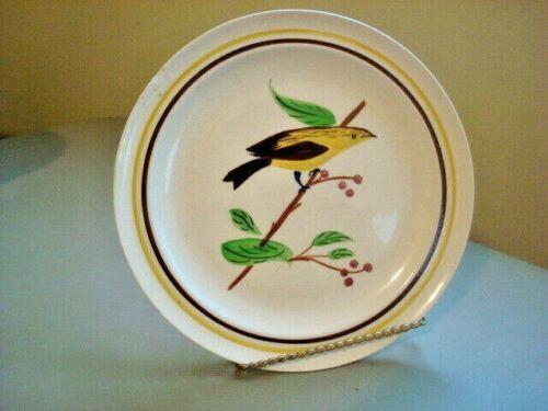 "Blue Ridge Handpainted Southern Potteries Decorative Bird Plate  8.5"""