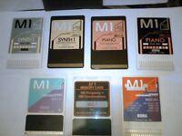 M1 KORG Keyboard/ SOUND CARDS/ 3 pairs