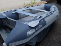 Brand New in box 3.4m inflatable boat dinghy tender rib air deck v keel