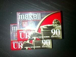 two brand new blank 90 minute Maxell cassettes
