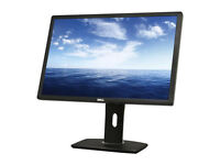Dell monitor U2412M 24 inch display port as new condition, boxed can tilt, swivel rotate