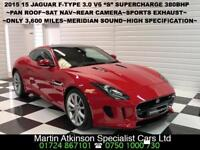 """2015 15 Jaguar F-Type 3.0 V6 """"S"""" Coupe 380BHP Automatic~ONLY 3,600 MILES~"""