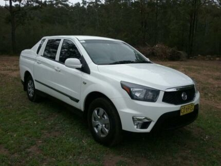2012 Ssangyong Actyon Sports Q150 MY12 TRADIE 4+2 RWD White Automatic Dual Cab Utility