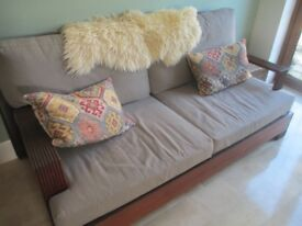 Large Retro 2 Seater Sofa