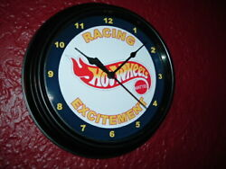Hot Wheels Toy Car Truck Store Advertising Man Cave Black Wall Clock Sign