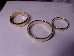 WEDDING BANDS Comfort Fit Sizes 13 1/4 & 6 3/4-and 14k Y/Gold size 10-Professionally Polished -free shipping Canada Only