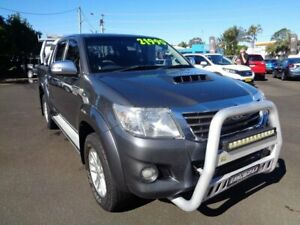 2013 Toyota Hilux KUN26R MY14 SR5 Double Cab Grey 5 Speed Manual Utility West Ballina Ballina Area Preview