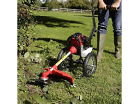two wheeled petrol strimmer and brushcutter