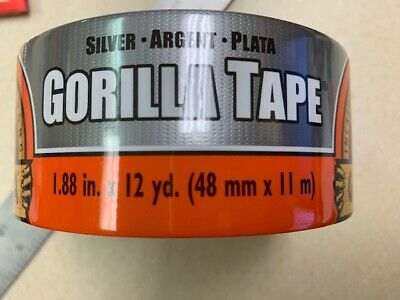 Gorilla Silver Duct Tape 12 Yard 1.88 Wide Extra Thick Extra Stick