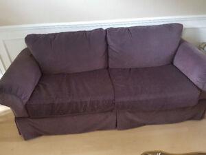 Sofa 7.5 ft mauve - Sklar Peppler
