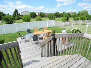 grande haut de duplex, grand patio