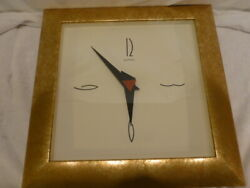 Wall Clock Large Square Wood Frame Marble Gold Empire Art Products Co Miami 20