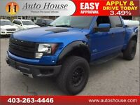 2011 FORD RAPTOR SVT LEATHER CREWCAB 4X4 90 DAYS NO PAYMENTS